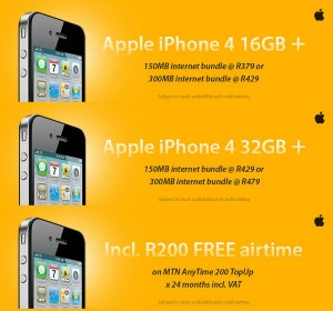MTN iPhone 4 Deals